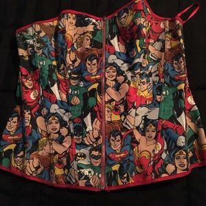 Torrid DC comics bustier.
